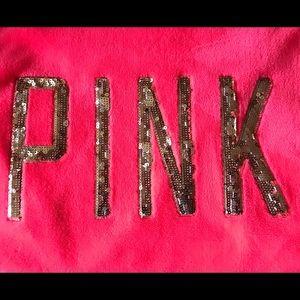 PINK fleece bathrobe